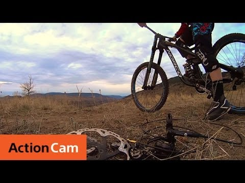 "Action Cam | Mountain Biking 96km/h Brakeless: Casey Brown's ""Death Grip"" 