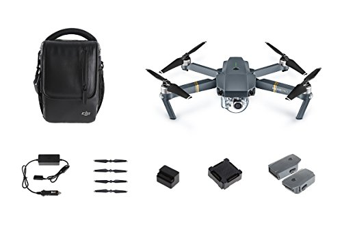 Recommended: DJI Mavic Pro Bundle with Shoulder Bag, Props, Car Charger and 2 Extra Batteries