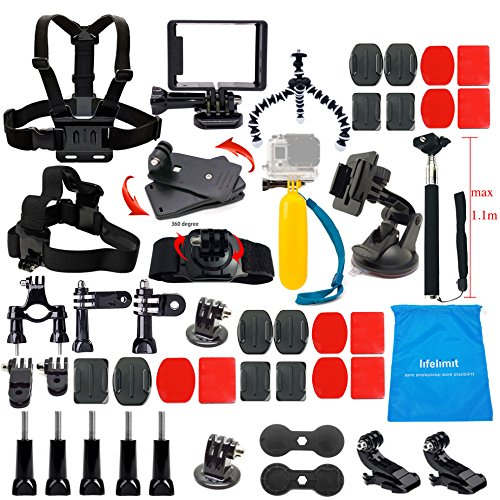 Recommended: Lifelimit Accessories Starter Kit for Gopro Hero 5/Session/4/3/2/HD Original Black Silver Cameras