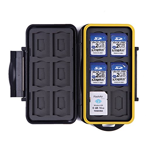 Recommended: HDE Waterproof Memory Card Travel Case for 12 Micro & Standard SD Card Storage Holder
