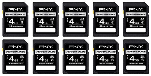 Recommended: PNY 4GB Class 4 SDHC Memory Card 10-pack (P-SDHC4G4HX10-AZ)