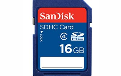 Recommended: SanDisk Flash 16 GB SDHC Flash Memory Card SDSDB-016G (Label May Change)