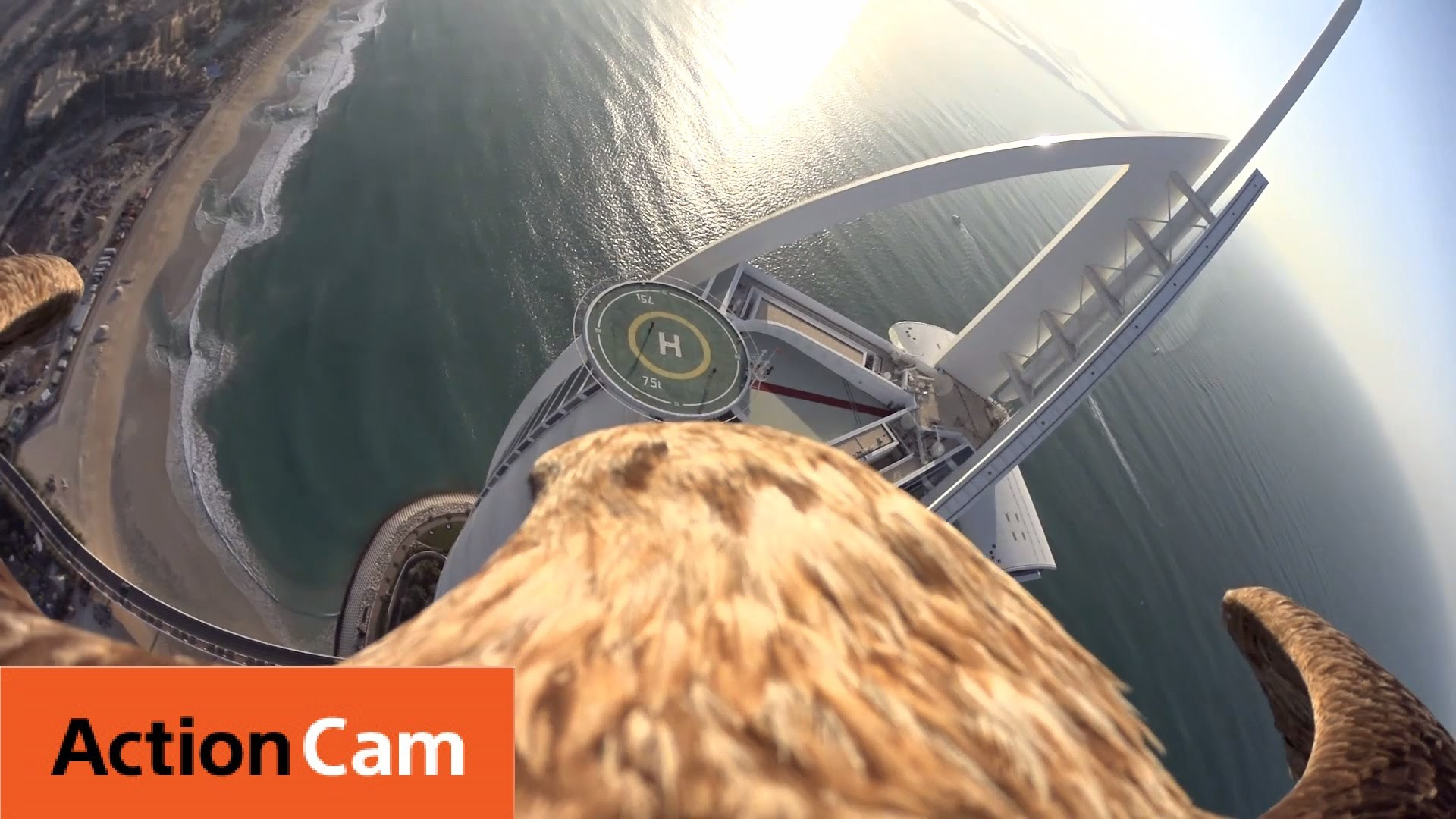 Flying over Dubai's Burj Al Arab | The Eagle POV | Action Cam | Sony