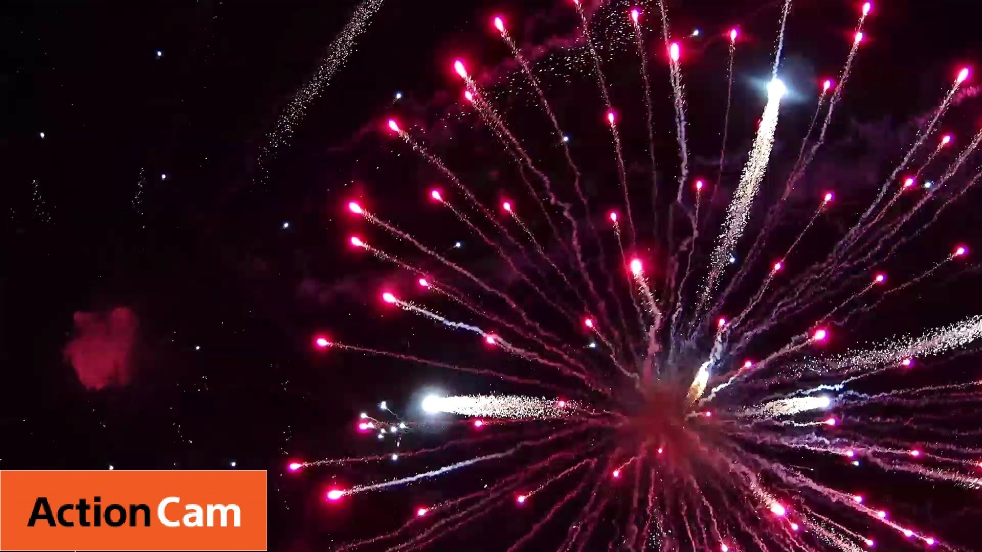 Fireworks from Drones   Action Cam   Sony