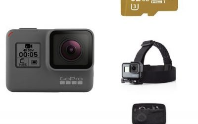 Recommended: GoPro HERO5 Black w/ SD Card, Headstrap and Carrying Case