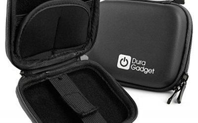 Recommended: Premium Quality Black Hard EVA Shell Case with Carabiner Clip & Twin Zips – For the Drift Compass – by DURAGADGET