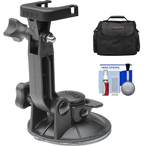 Recommended: Drift Innovation Suction Cup Mount with Case + Cleaning Kit for Drift HD, HD 170, Ghost, Ghost-S Action Camcorders