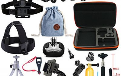 Recommended: YRMJK Accessories Kit for GoPro Hero 5 4 3 2 1 Session SJ 4000 5000 6000 XiaoYi