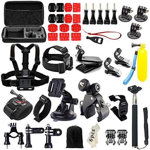 Recommended: Iextreme 48-in-1 Action Camera Accessories Kits for Gopro 4/3/2/1 SJ4000 SJ5000 Accessory Bundles with Chest Harness Mount/Suction Cup Mount/Selfie Stick/Folating Hand Grip