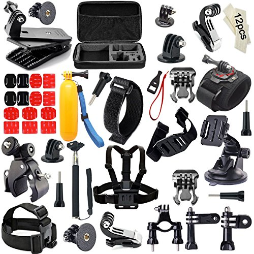 Recommended: Gogolook 57-in-1 Action Camera Accessories Kits for Gopro 4/3/2/1 SJ4000 SJ5000 Accessory Bundles with Chest Harness Mount/Suction Cup Mount/Selfie Stick/Folating Hand Grip
