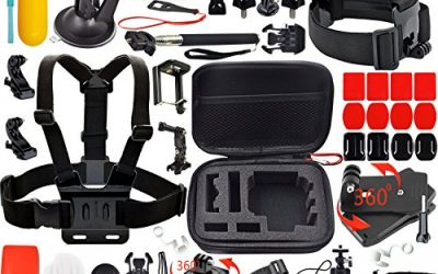 Recommended: Leknes Common Outdoor Sports Bundle for sj4000/sj5000 and GoPro Hero 4/3+/3/2/1 Cameras (31 Items)