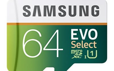 Recommended: Samsung 64GB 80MB/s EVO Select Micro SDXC Memory Card (MB-ME64DA/AM)