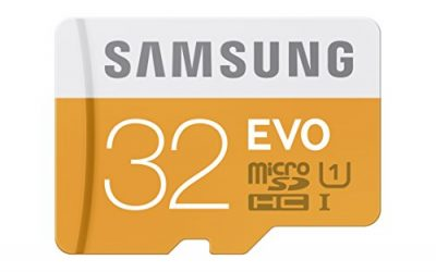 Recommended: Samsung EVO 32GB Class 10 Micro SDHC Card with Adapter (MB-MP32DA/AM)