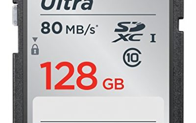 Recommended: SanDisk 128GB Ultra UHS-I Class 10 SDXC Memory Card, Black, Standard Packaging (SDSDUNC-128G-GN6IN)