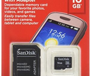 Recommended: SanDisk 16GB Mobile MicroSDHC Class 4 Flash Memory Card With Adapter- SDSDQM-016G-B35A