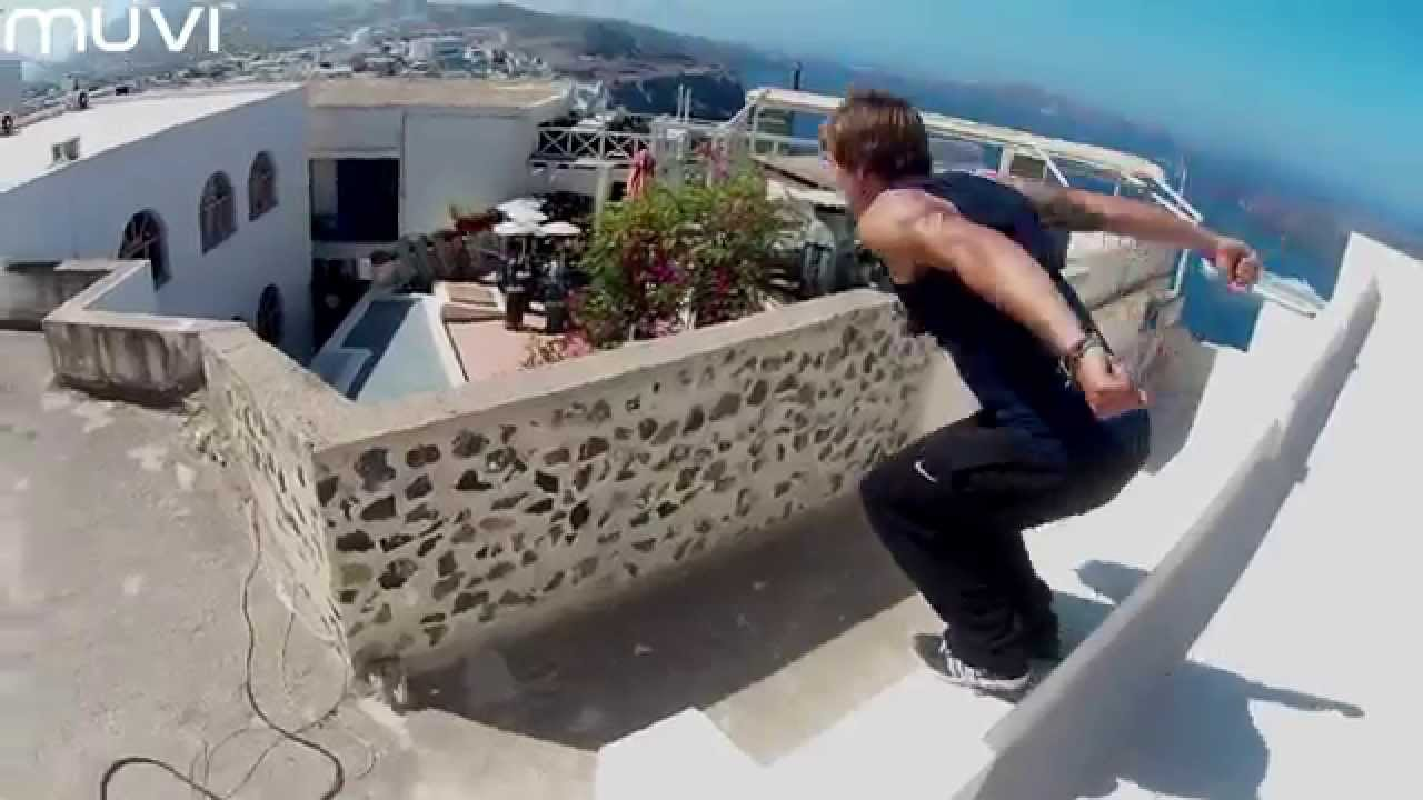 Veho Muvi K-Series: Free running in Santorini