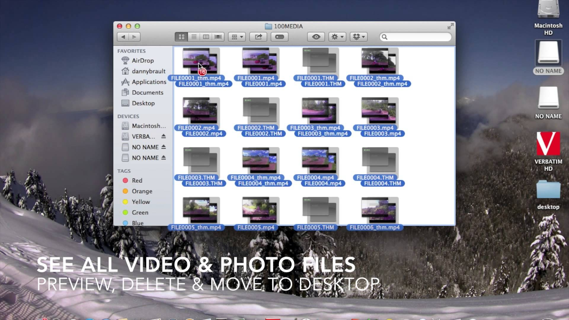 WASPcam: How to import files from camera to computer (Mac)