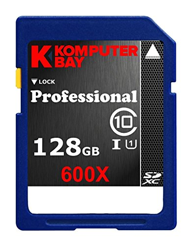Recommended: Komputerbay 128GB SDXC Secure Digital Extended Capacity Speed Class 10 600X UHS-I Ultra High Speed Flash Memory Card 60MB/s Write 90MB/s Read 128 GB