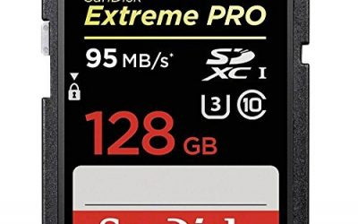 Recommended: SanDisk Extreme PRO 128GB up to 95MB/s UHS-I/U3 SDXC Flash Memory Card – SDSDXPA-128G-G46