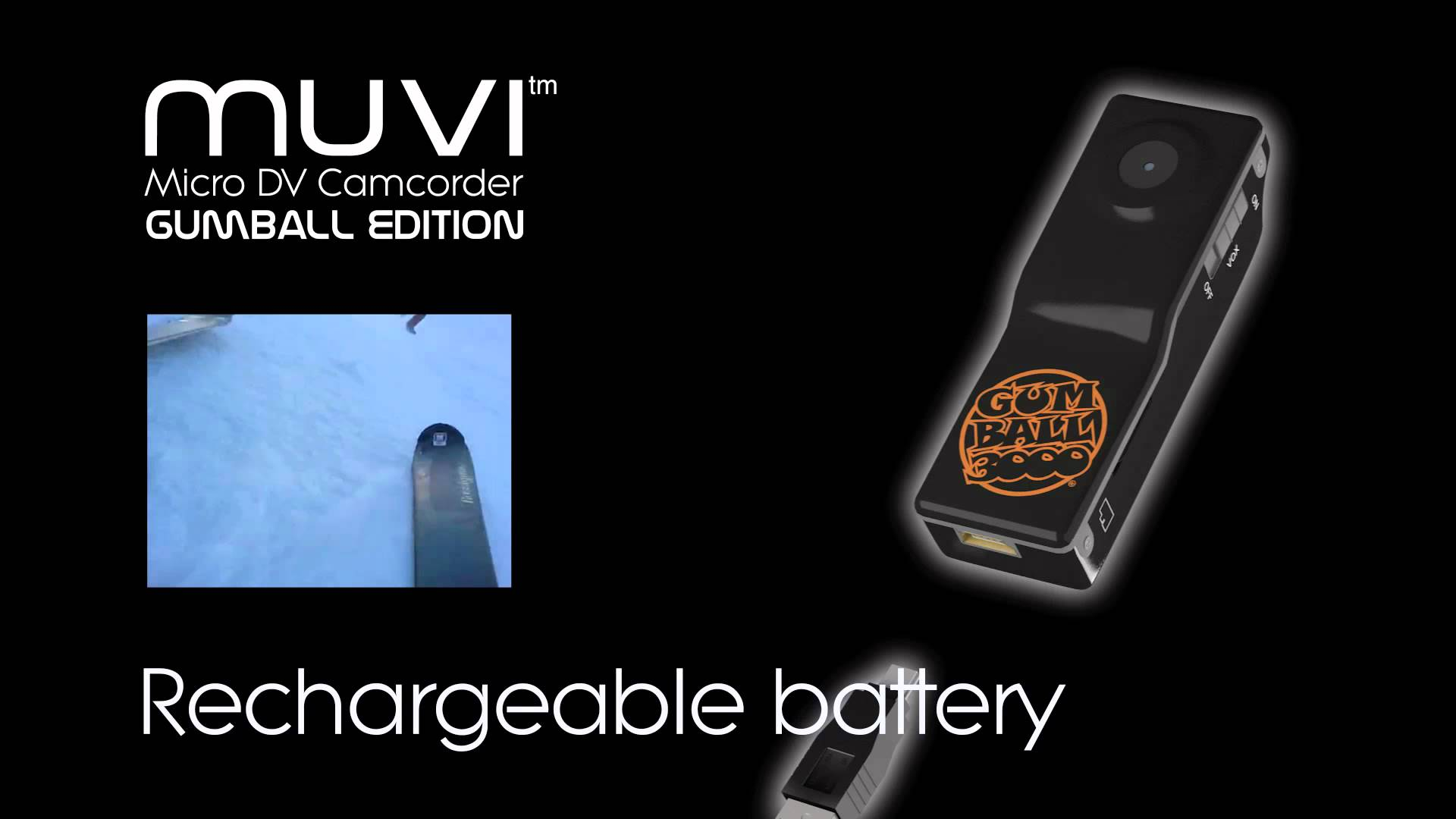 Veho VCC-003-GUM Gumball Edition Muvi Micro Camcorder Bundle