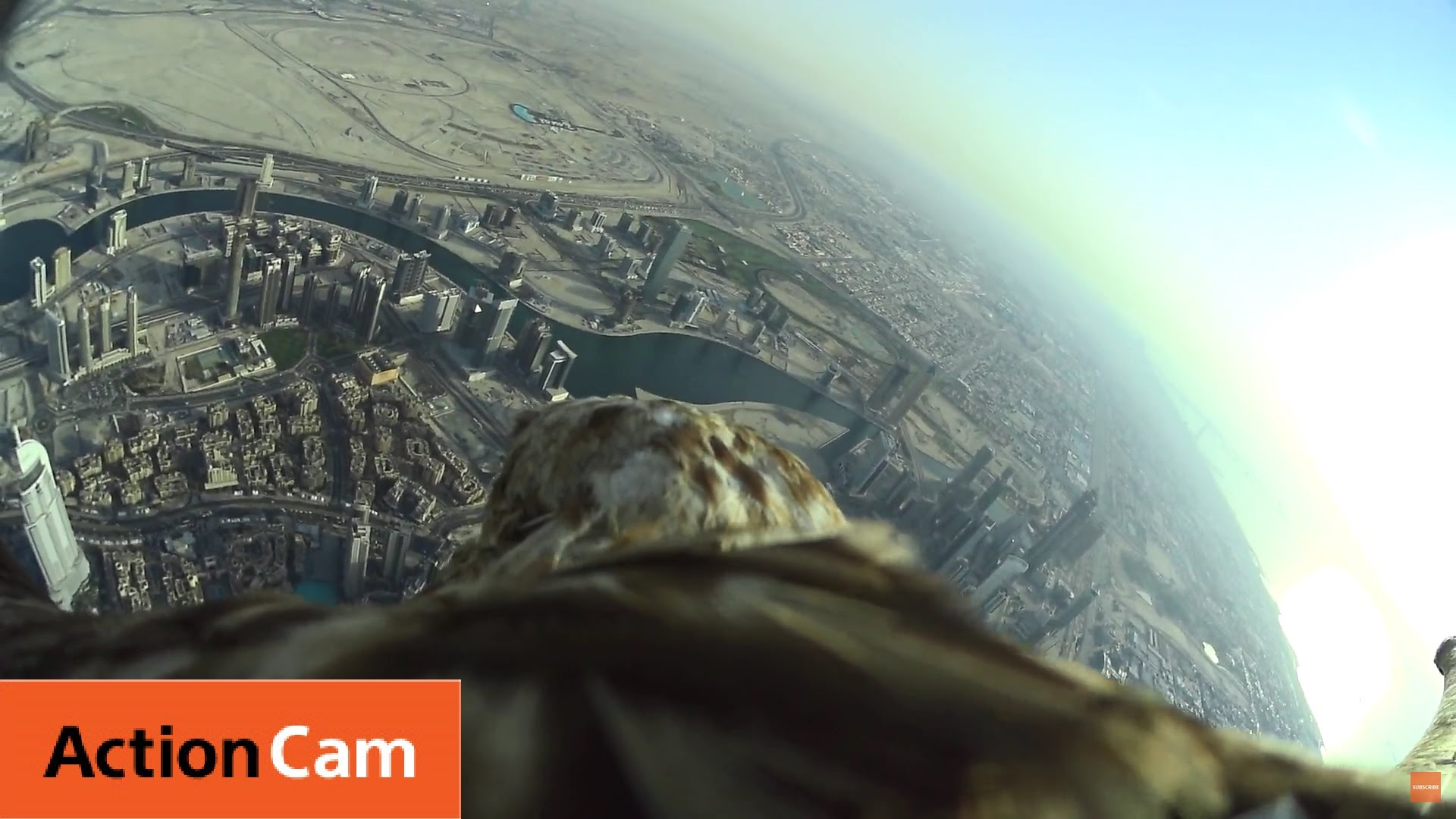 Action Cam | The World Record Flight over the Burj Khalifa Tower | Sony