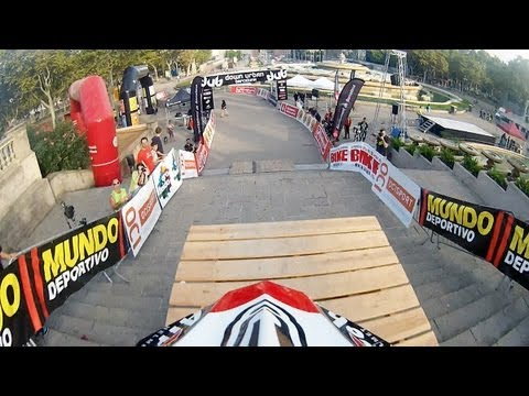 Drift HD Ghost: Urban Downhill MTB Track Run in Barcelona