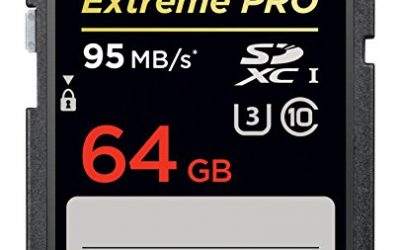 Recommended: SanDisk Extreme PRO 64GB SDXC Flash Memory Card with up to 95MB/s (SDSDXPA-064G-X46)