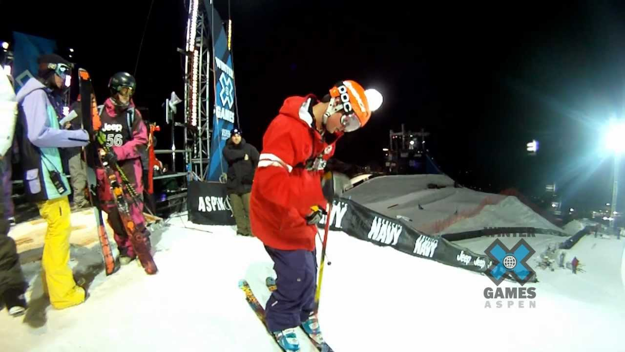 GoPro HD: Winter X Games – Tucker Perkins Ski Superpipe Warm Up