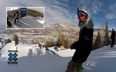 GoPro HD: Winter X Games – Eric Willett Snowboard Slopestyle Practice Run