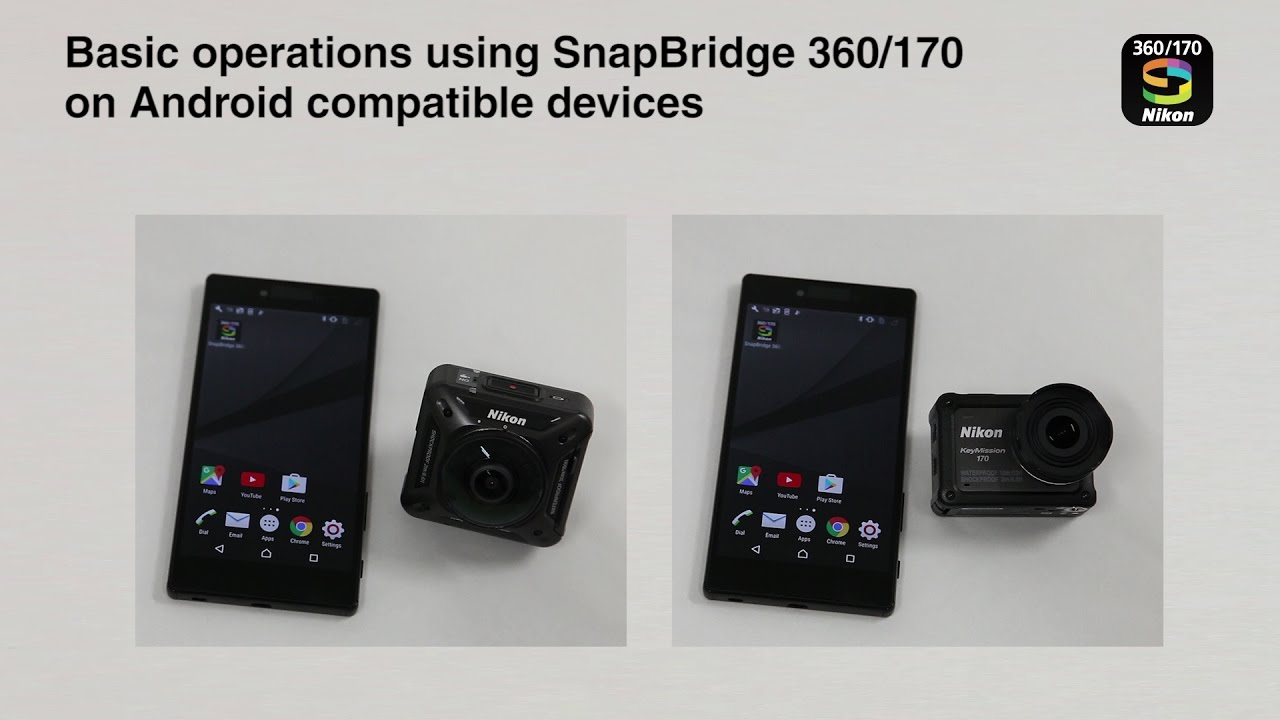 Nikon KeyMission: Basic operation of SnapBridge for Android devices