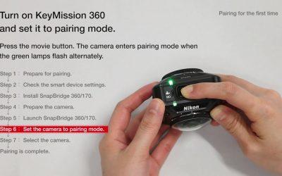 Nikon KeyMission 360: SnapBridge Connection Settings for iOS Smart Devices