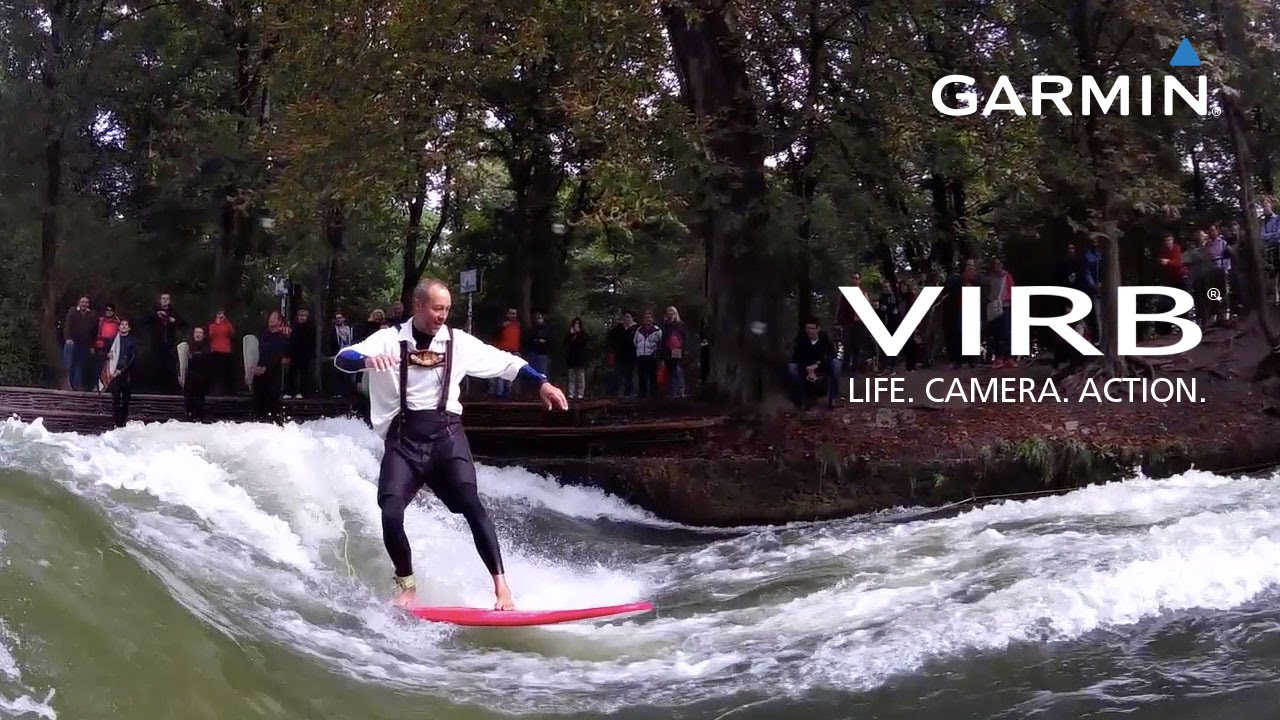 Garmin VIRB Elite: River surfing in Munich