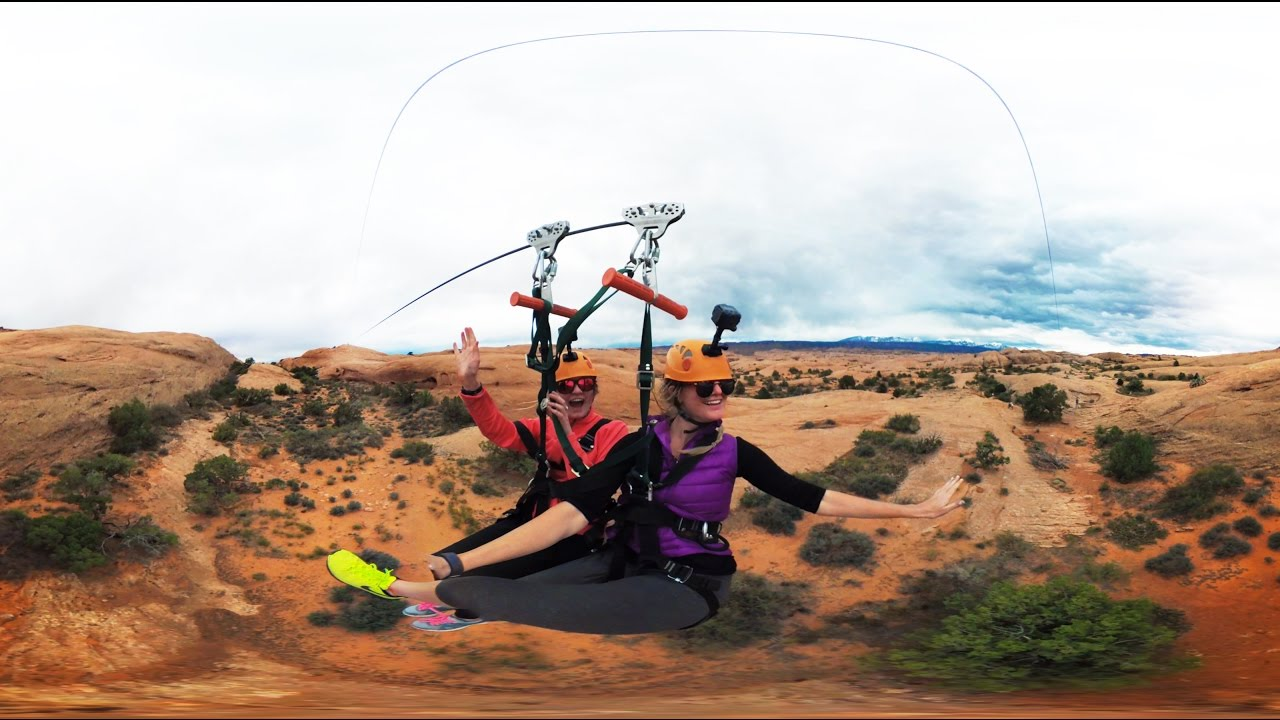 Garmin VIRB 360: Zip-Lining near Moab, UT