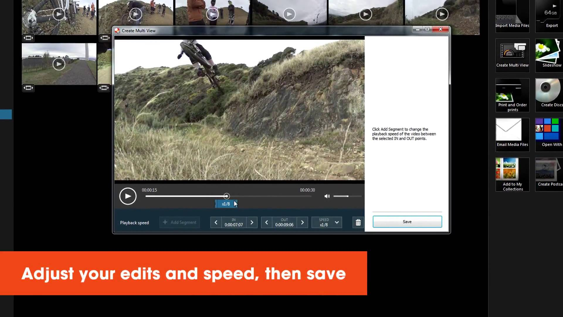How to use slow motion effects in Playmemories Home   Action Cam   Sony