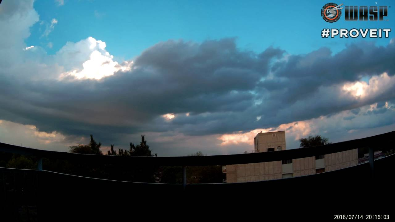 WASPcam Time-lapse: Clouds