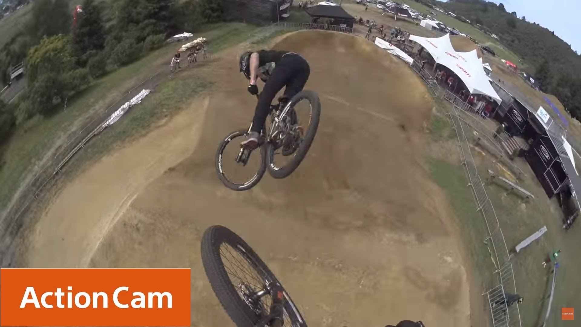Action Cam | Crankworx Rotorua Slopestyle Course Preview | Brett Rheeder & Cam McCaul | Sony