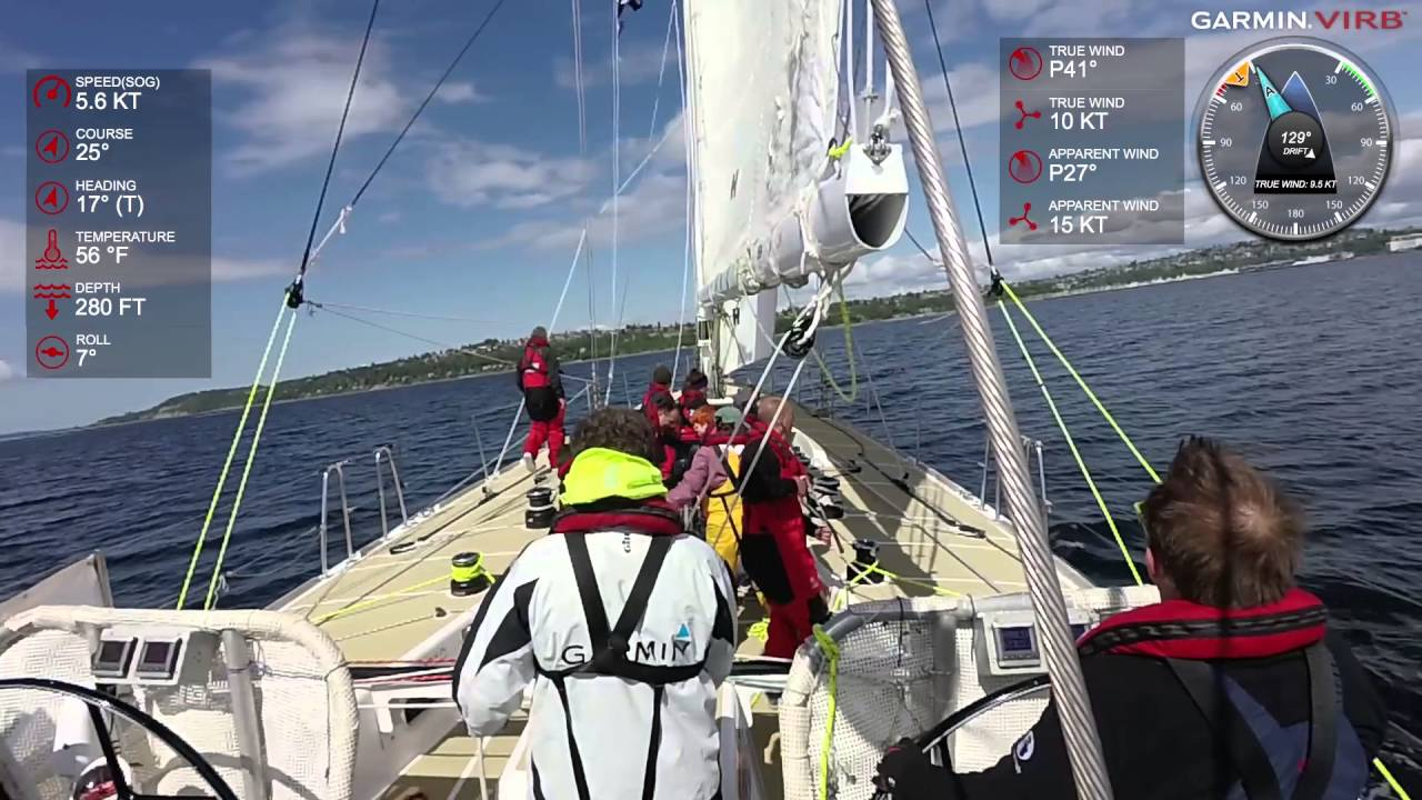Garmin VIRB XE: Seattle Sailing on 70-foot Clipper Yacht