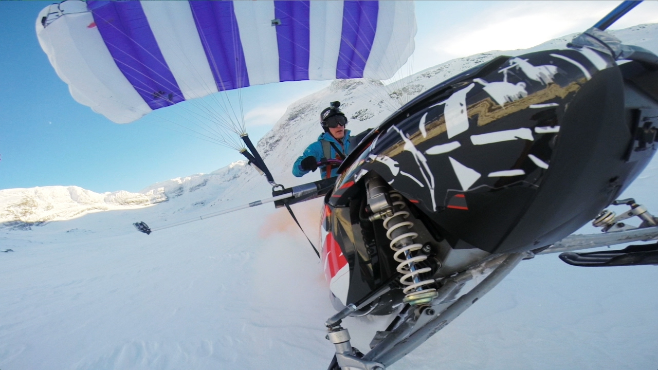 GoPro:  Snowmobile Paragliding