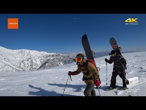 Action Cam | Snowboarding in the Hakuba Backcountry – 4K | Sony