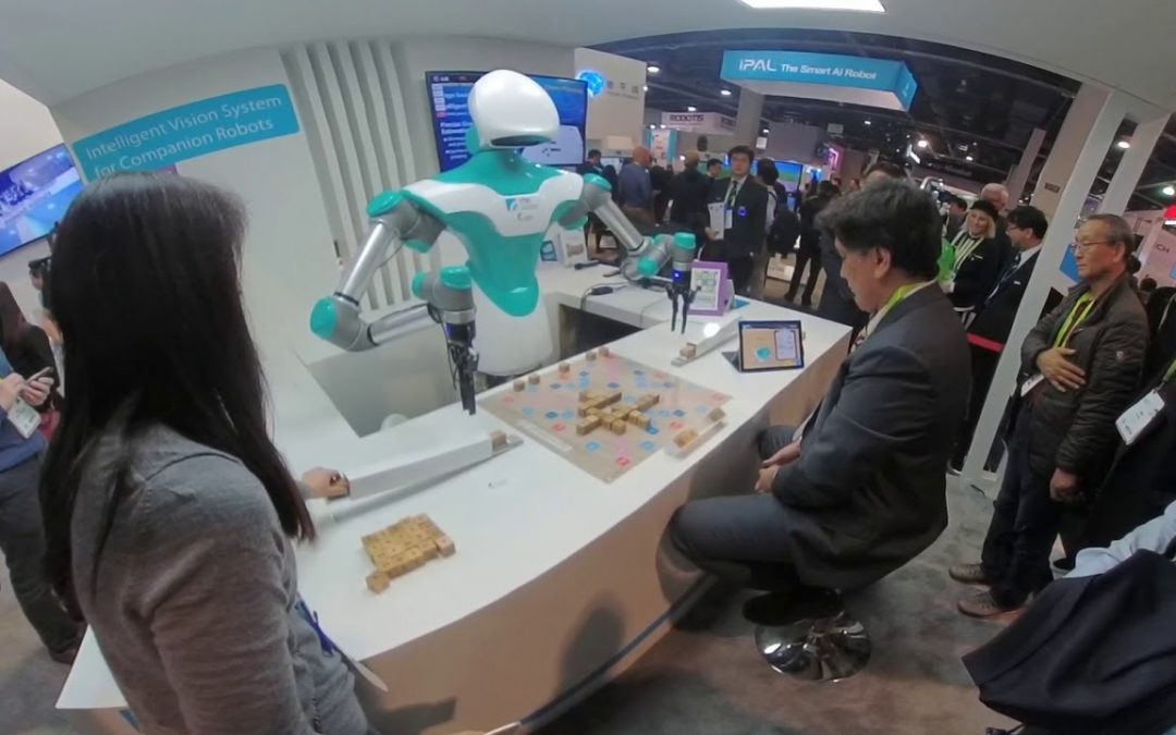 CES 2018 – A Robot Plays Scrabble in FULL 360!