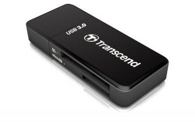 Transcend USB 3.0 SDHC / SDXC / microSDHC / SDXC Card Reader, TS-RDF5K (Black)
