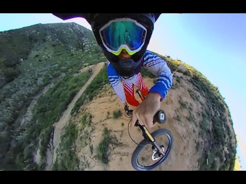 Downhill Mountain Biking With 360fly Camera – 360 Video!