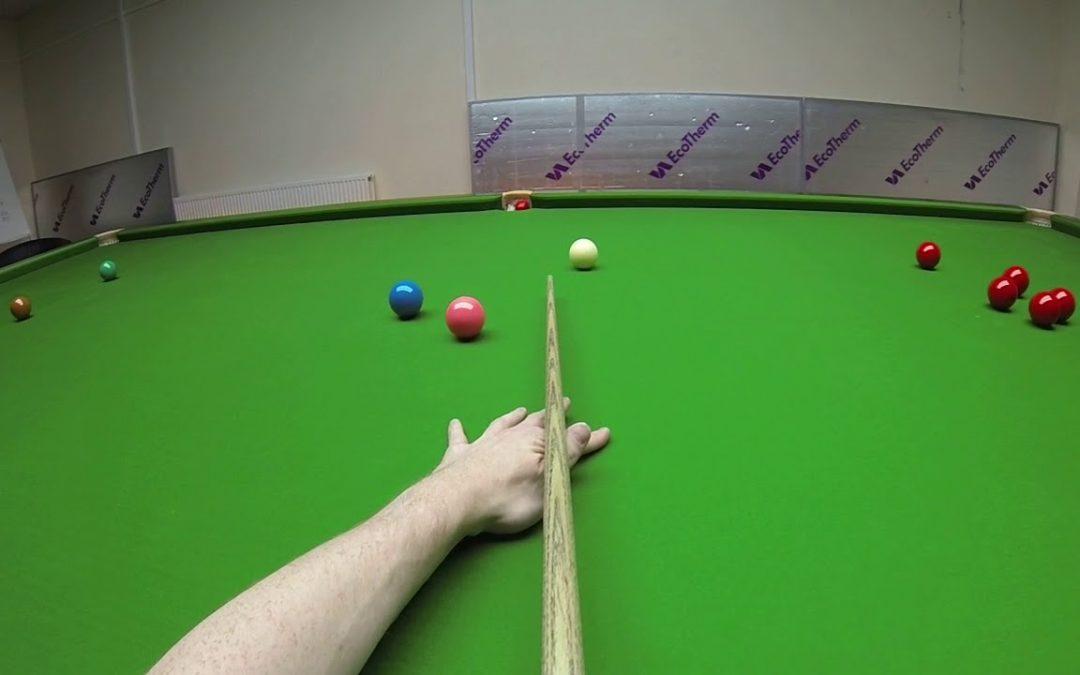 Snooker Headcam Century – 134 kick on the pink