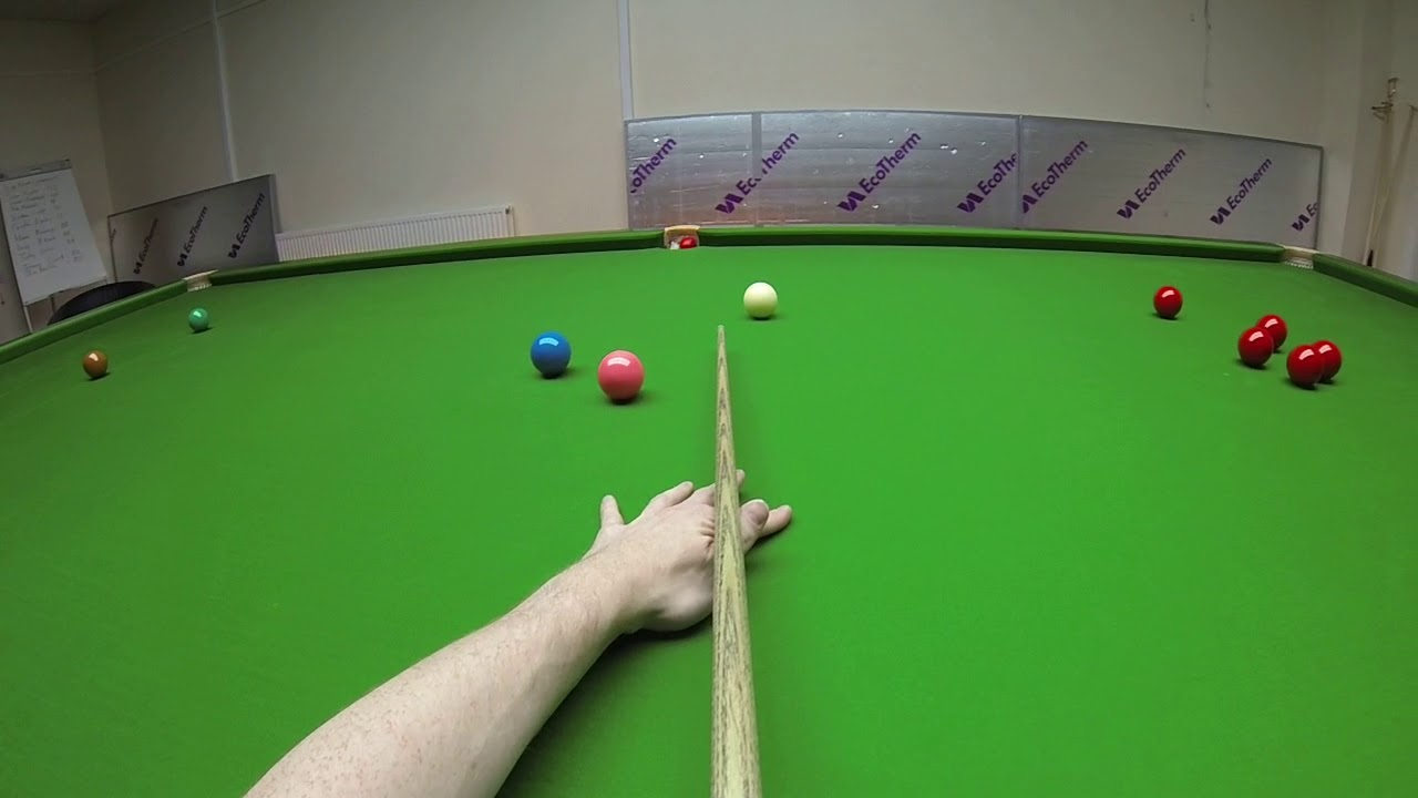 Snooker Headcam Century – 134 kick on the pink