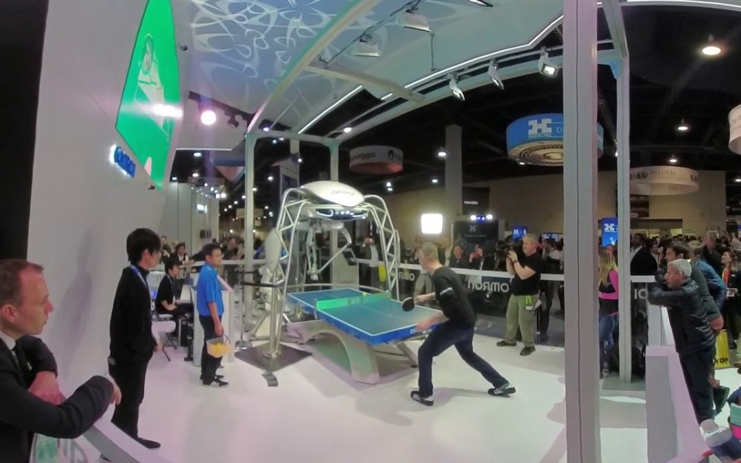 CES 2018 – Table Tennis – MAN VS. ROBOT IN 360!