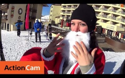 Breaking Records At Santa Ski  | Action Cam | Sony