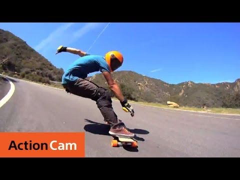 Impressive Downhill Longboarding HD Video | Action Cam | Sony