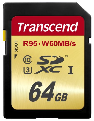 Transcend 64 GB High Speed 10 UHS-3 Flash Memory Card 95/60 MB/s (TS64GSDU3)