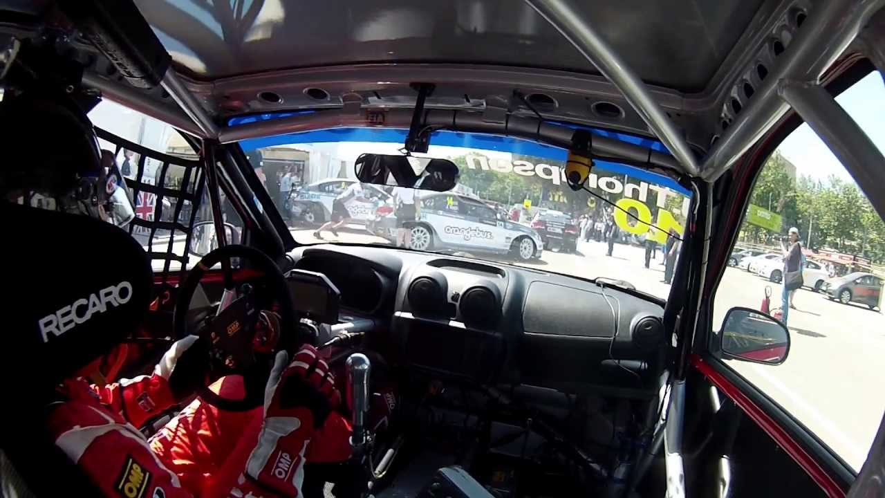 Drift HD Ghost: James Thompson Onboard Lap   World Touring Car Championshipn 2013   Porto, Portugal