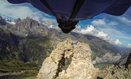 GoPro: Wingsuit Flight Through 2 Meter Cave – Uli Emanuele
